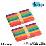 Wooden Popsicle Ice Cream Sticks Multi-color - L (100pcs/2 packs)