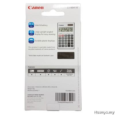 Canon Calculator LS-88HI III (Black)