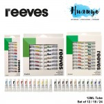Reeves Artist Acrylic Colour Paint Set (Color of 12/ 18 / 24 , 12ML Tube)