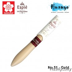 Sakura Espie 3D Decoration Marker Pen No.51 - Gold
