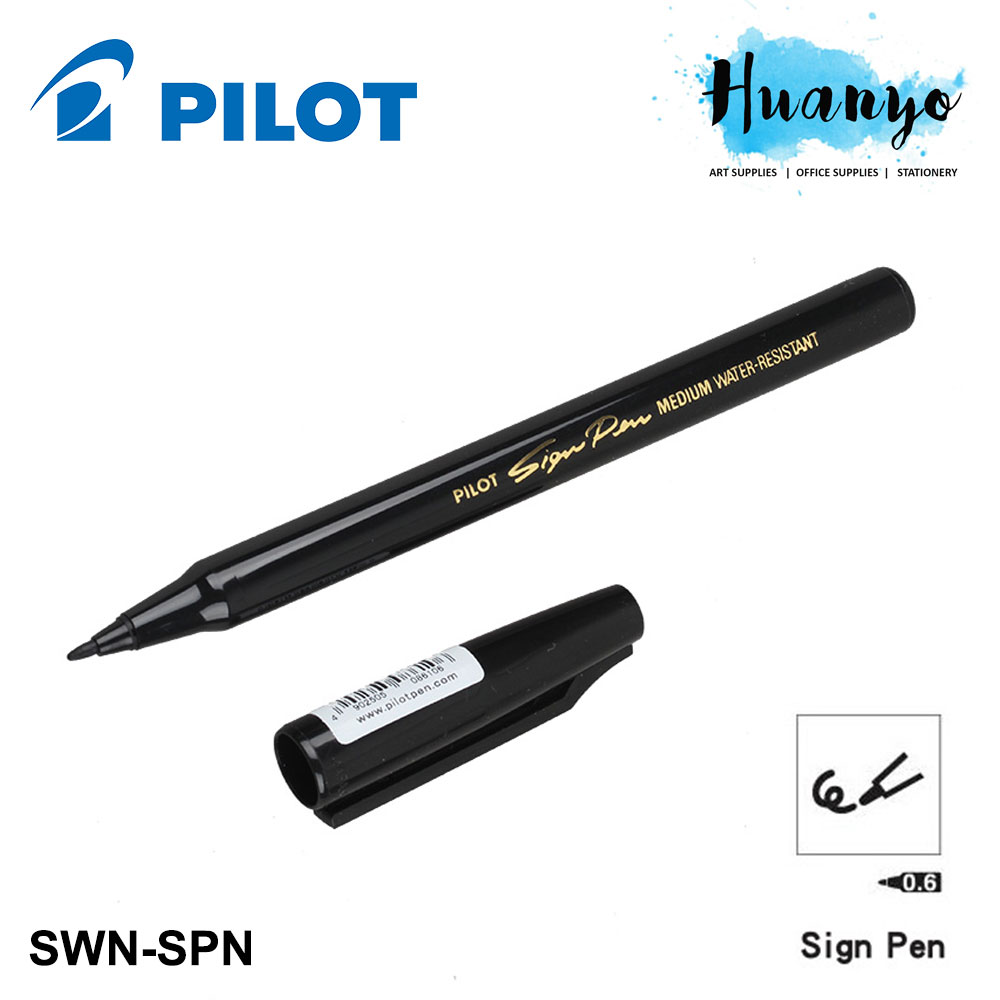 Pilot Water Resistant Sign Pen SWN-SPN - Black