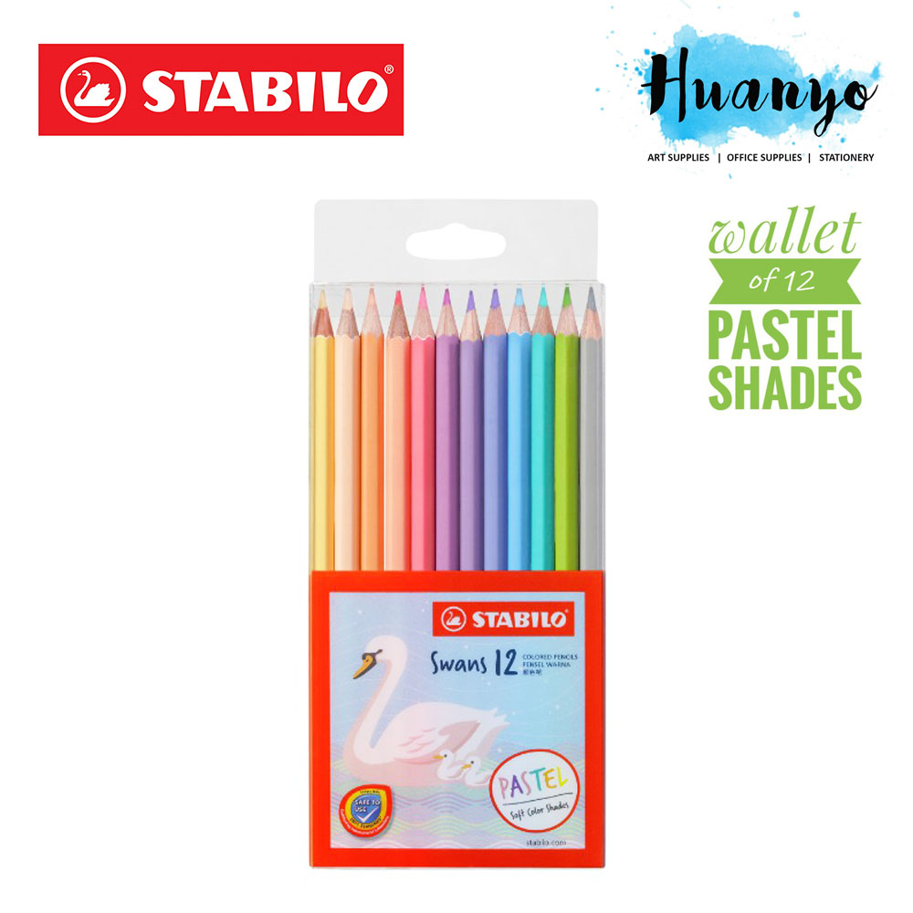Stabilo Swans Pastel Edition Color Colour Pencils (Wallet of 12 Colours)