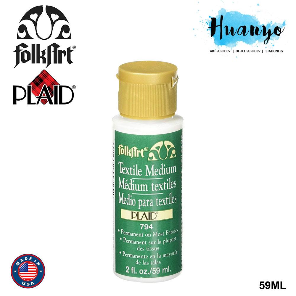 Plaid Folk Art Acrylic Colour Fabric Textile Medium (59ml)