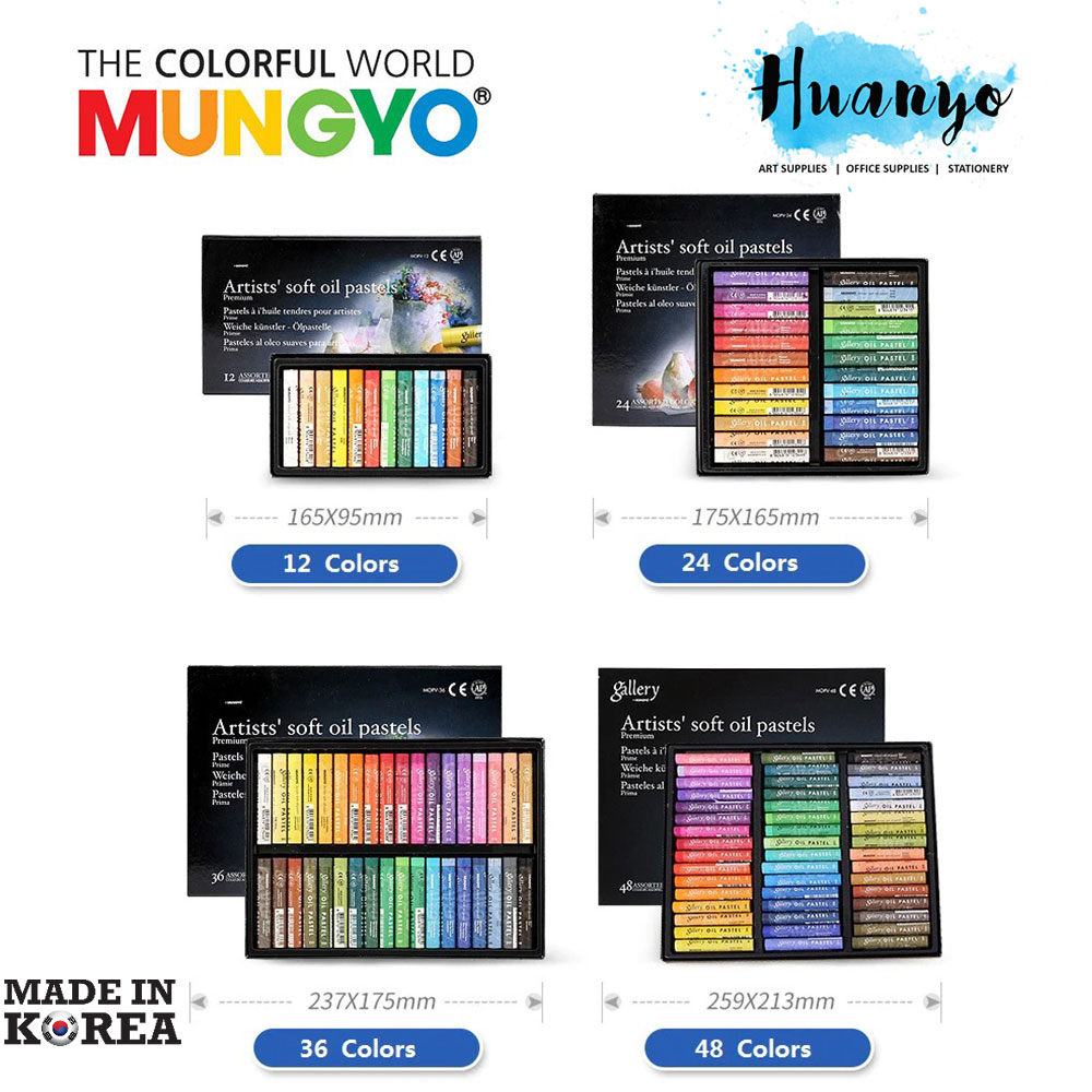 36 MUNGYO Oil Pastel for Artists Set 12 24 48 Assorted Colors