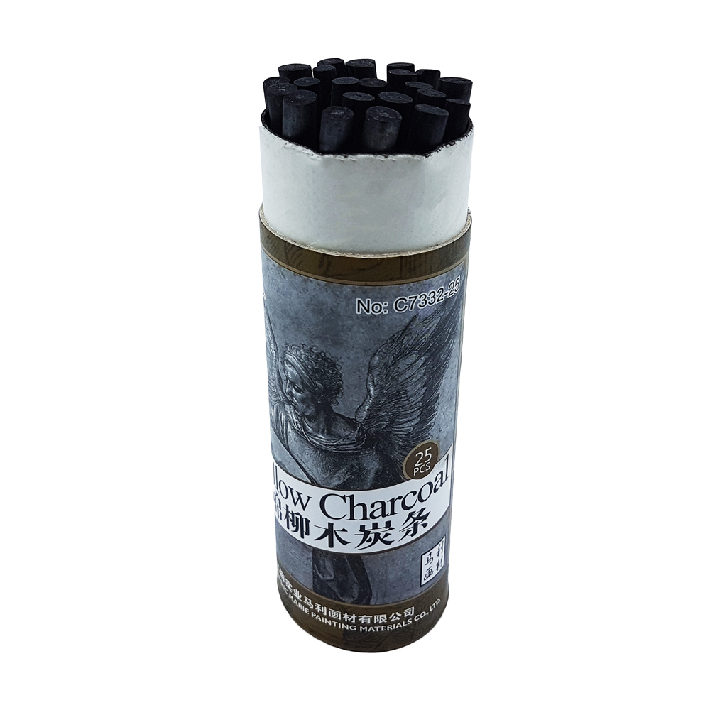 Marie's Willow Charcoal 25pcs (L:135mm, 5-7mm)